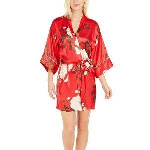 NWT! Linea Donatella Kara Floral-Print Wrap Robe